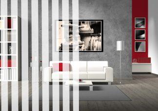 Sichtschutz und Dekorfolie mit 12mm breiten weißen Streifen